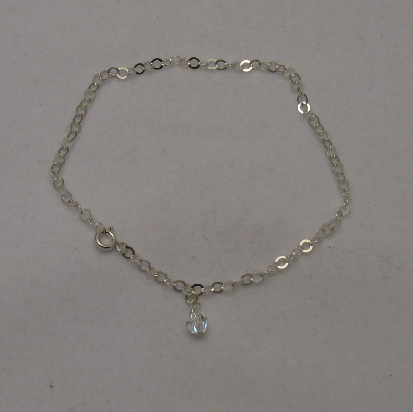 Silver anklet - B000107H6
