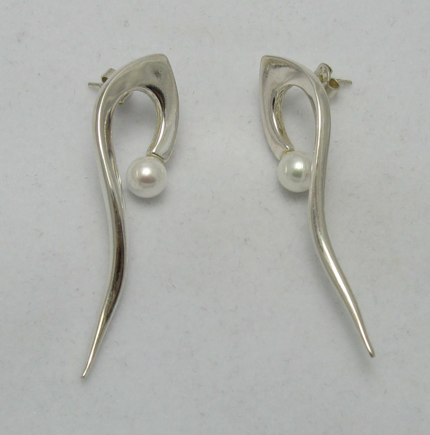 Silver earrings - E000007P