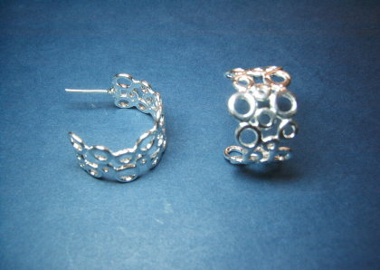 Silver earrings - E000156