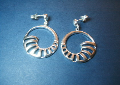 Silver earrings - E000159