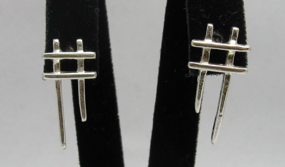 Silver earrings - E000244