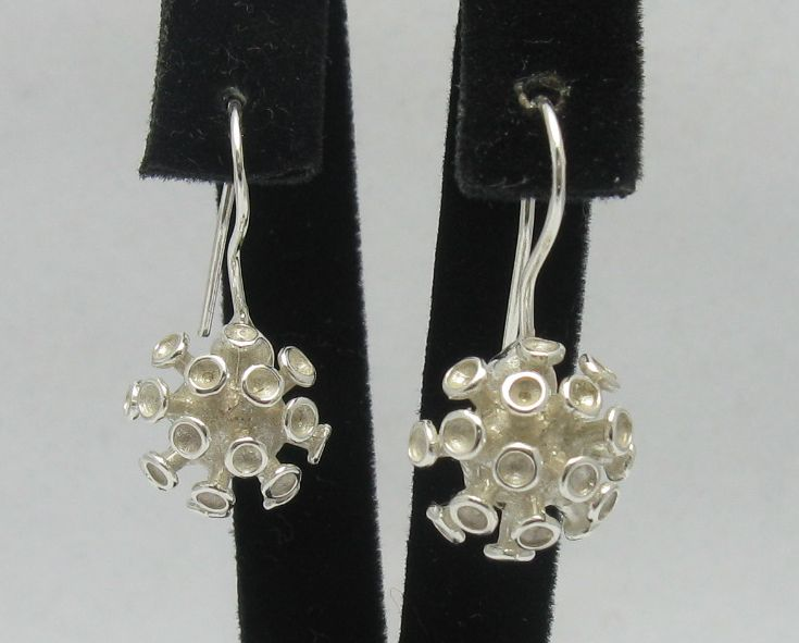 Silver earrings - E000258