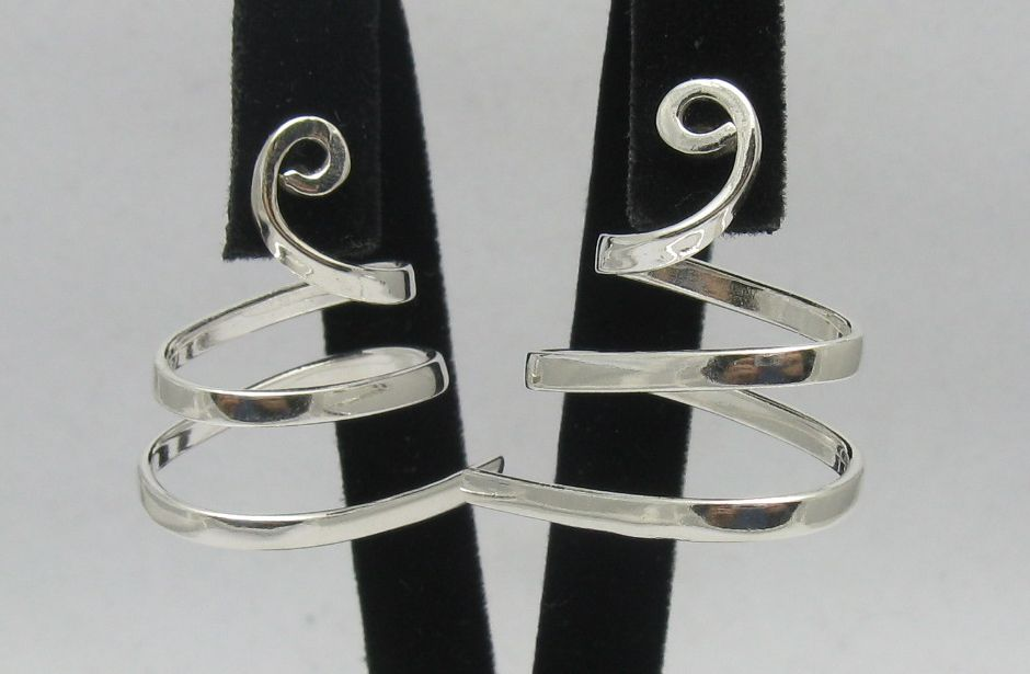 Silver earrings - E000263