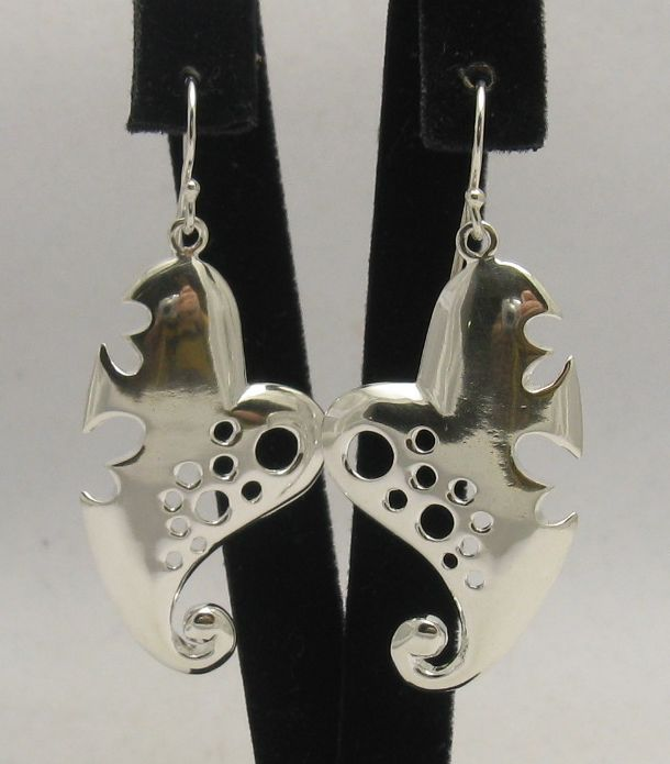 Silver earrings - E000272