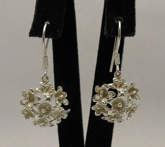 Silver earrings - E000298