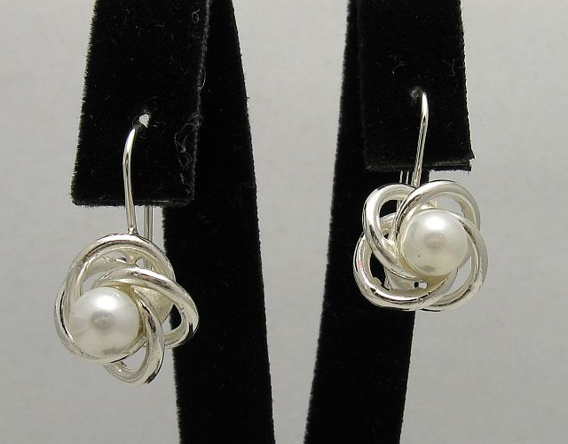 Silver earrings - E000411