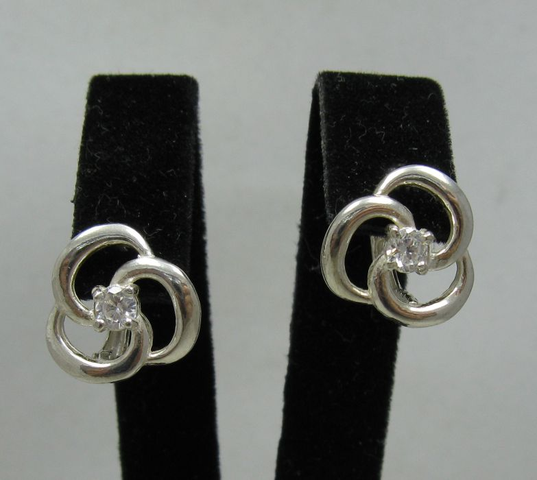 Silver earrings - E000432