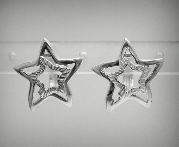 Silver earrings - E000458
