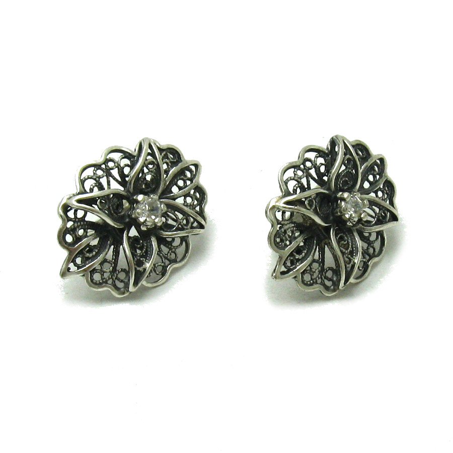Silver earrings - E000565