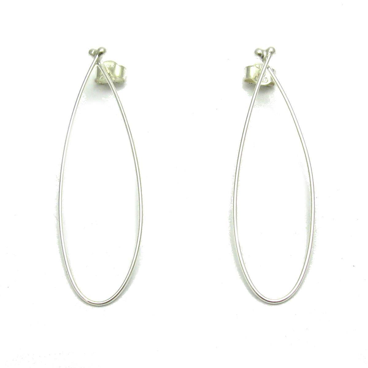 Silver earrings - E000666