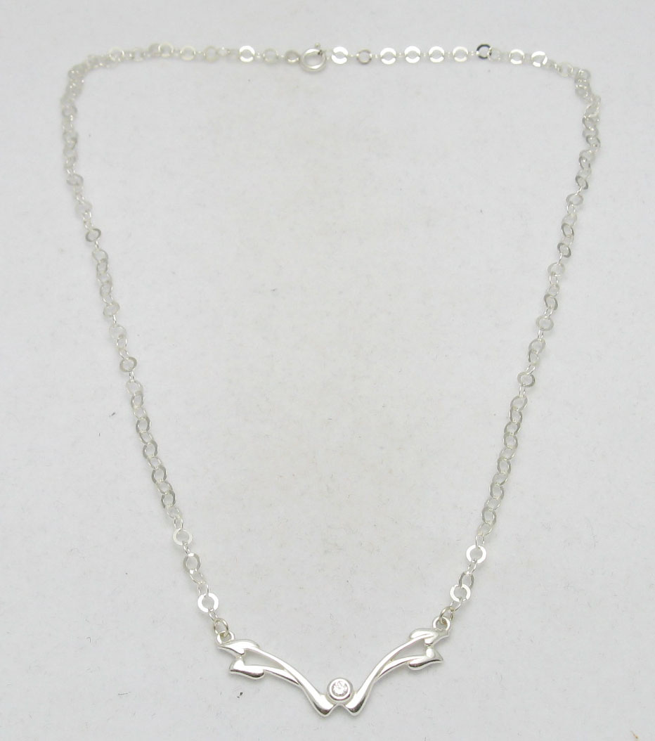 Silver necklace - N000254